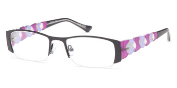 Black Capri Dicaprio DC121 Eyeglasses - Teenager