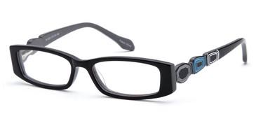 Black CAPRI DC81 Eyeglasses.