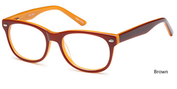 Brown Capri T22 Eyeglasses