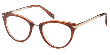 Brown/Gold Capri Dicaprio DC156 Eyeglasses - Teenager