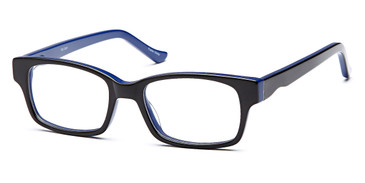 Black/Blue CAPRI Trendy T26 Eyeglasses
