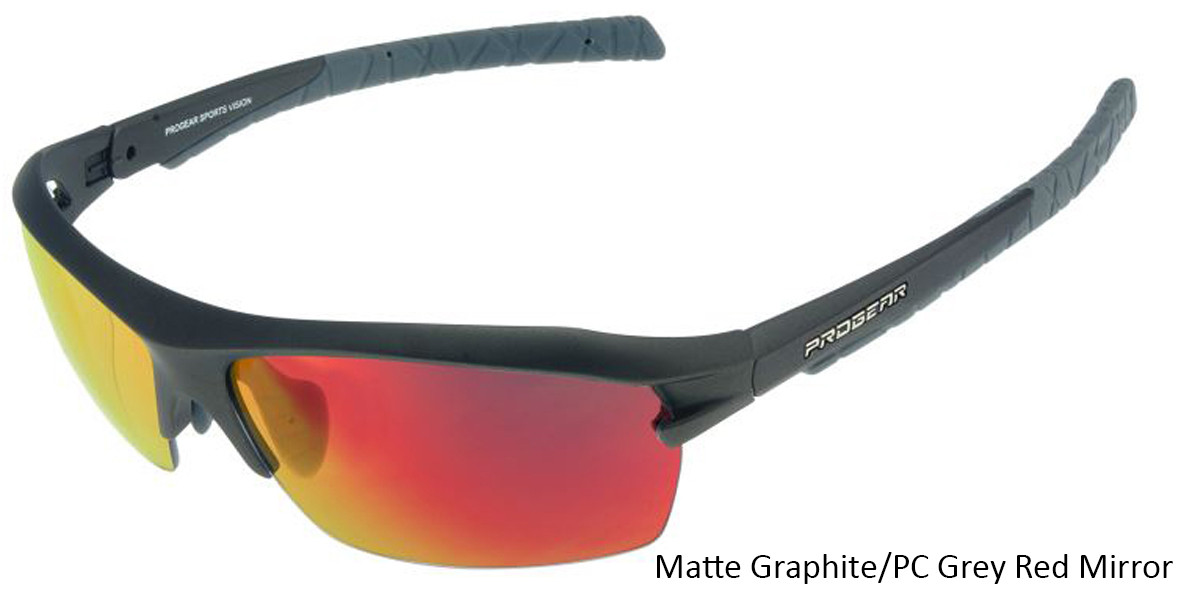 Matte Graphite/PC Grey Red MirrorRacer 1283.