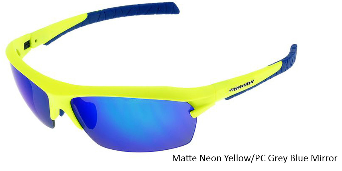 Matte Neon Yellow/PC Grey Blue Mirror Racer 1283.