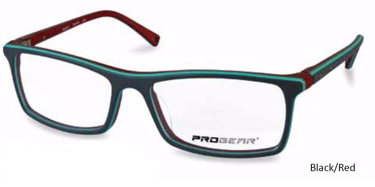 Black/Red Progear OPT-1131 Eyeglasses
