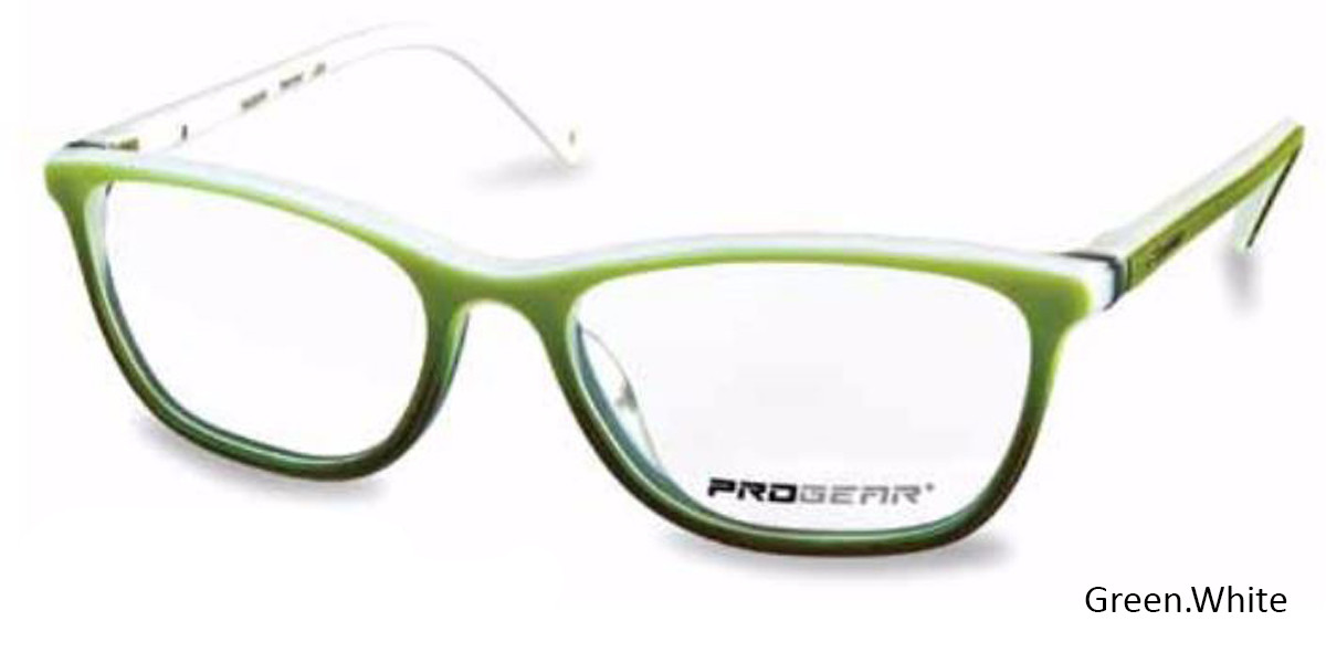 Green/White Progear OPT-1133 Eyeglasses