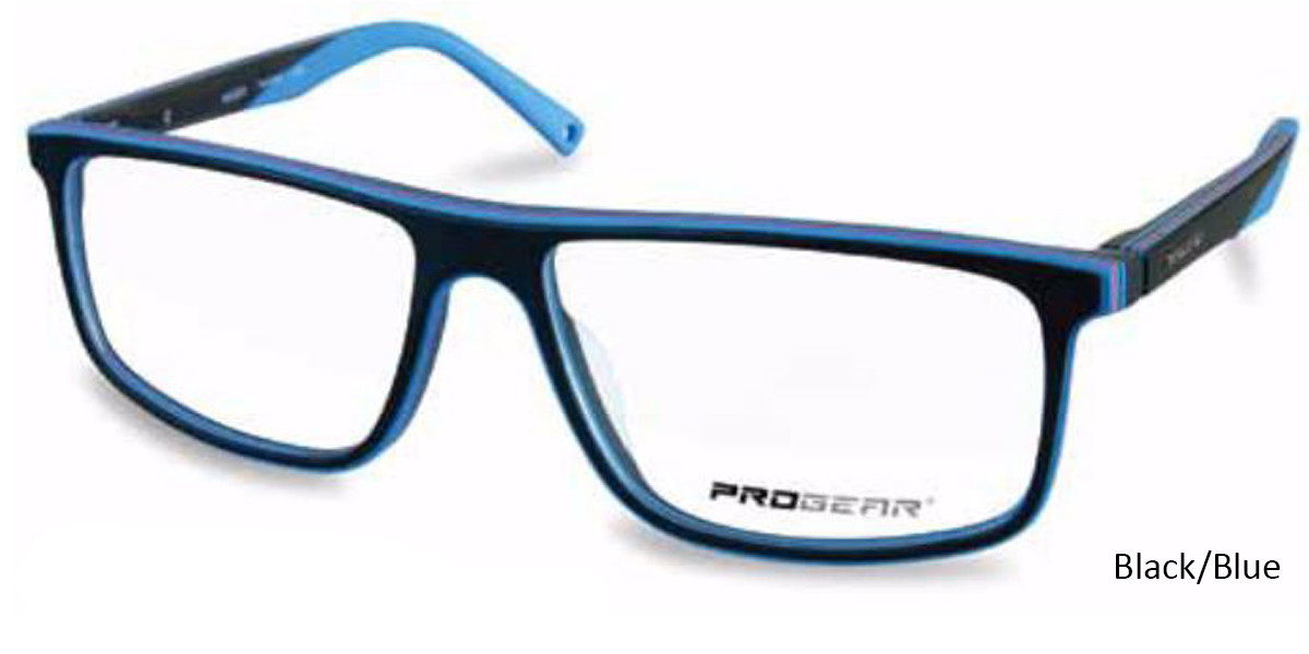 Black/Blue Progear OPT-1135 Eyeglasses