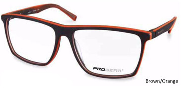 Brown/Orange Progear OPT-1136 Eyeglasses