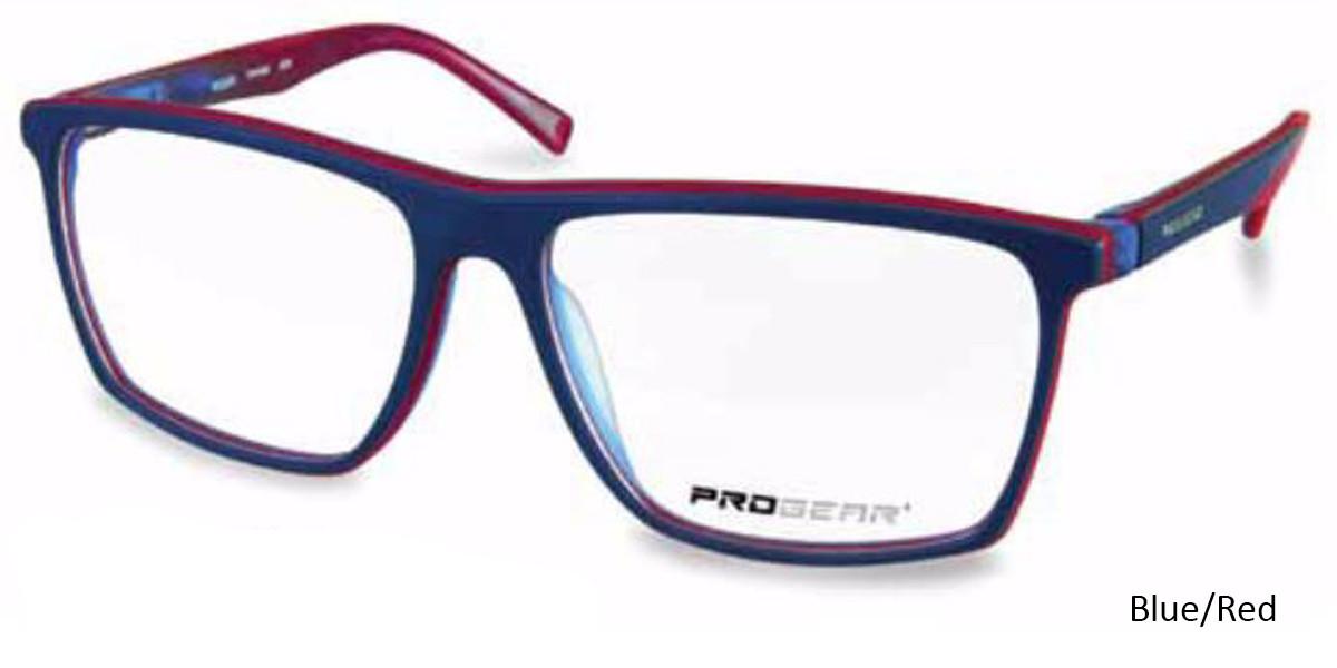 Blue/Red Progear OPT-1136 Eyeglasses