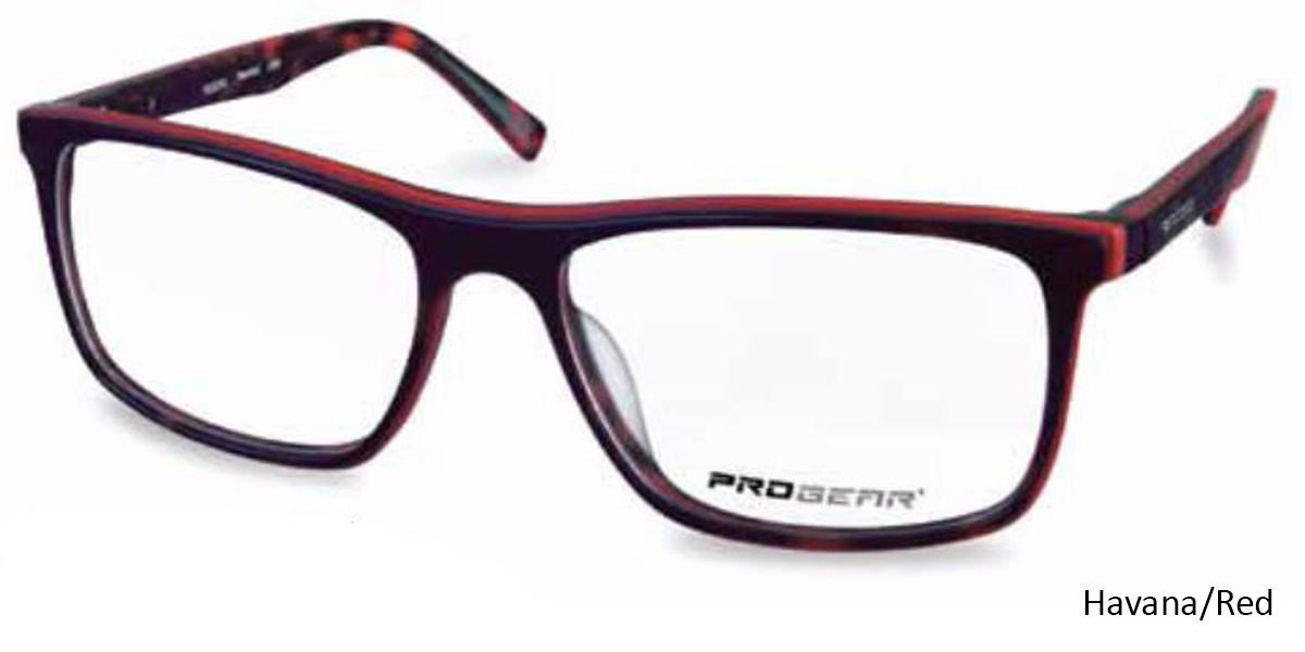 Havana/Red Progear OPT-1137 Eyeglasses