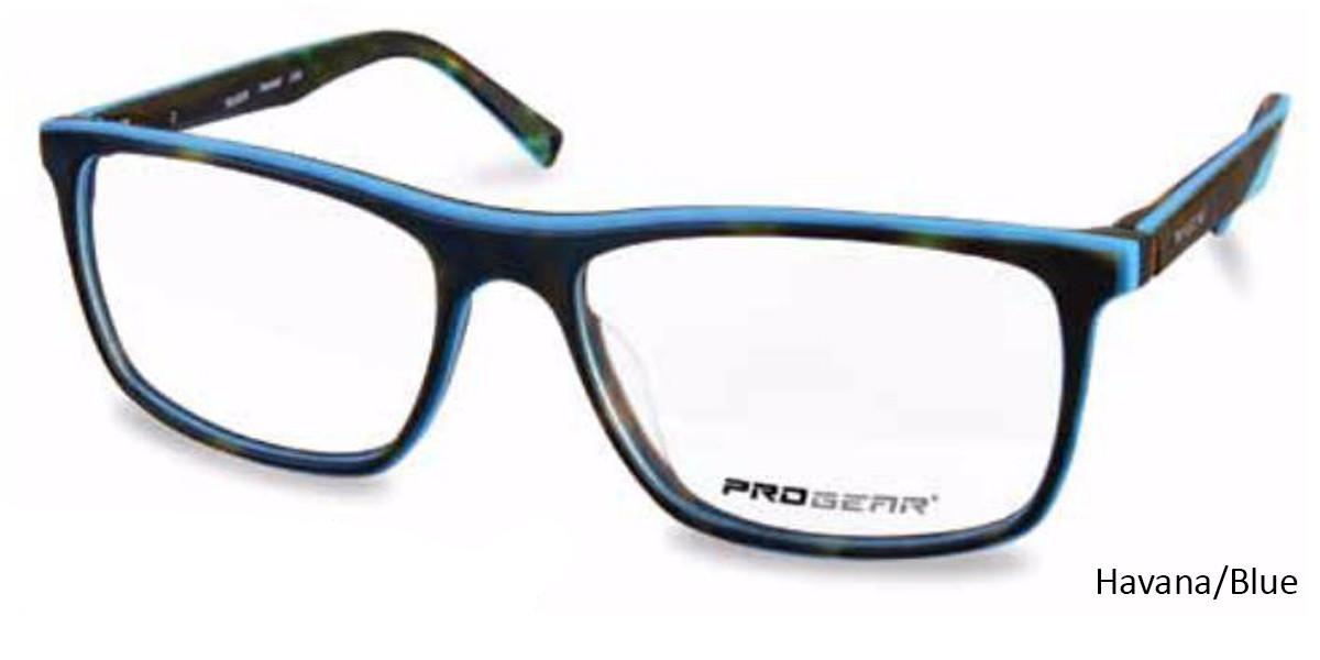 Havana/Blue Progear OPT-1137 Eyeglasses