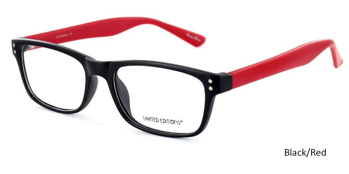 Black/Red Limited Edition Artwork Eyeglasses
