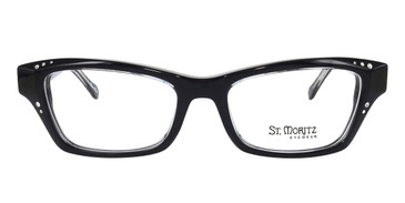 Black ST. Moritz APRIL Eyeglasses.