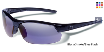 Black/Smoke/Blue Flash Gargoyles Breakaway Sunglasses.