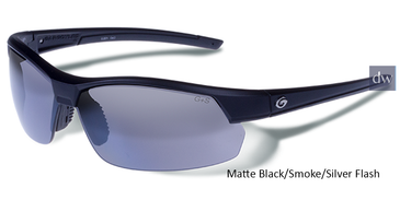 Matte Black/Smoke/Silver Flash Gargoyles Breakaway Sunglasses.