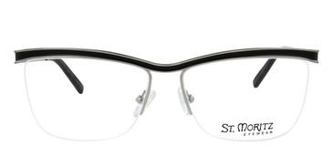 Black ST. Moritz CHRISTINA Eyeglasses.
