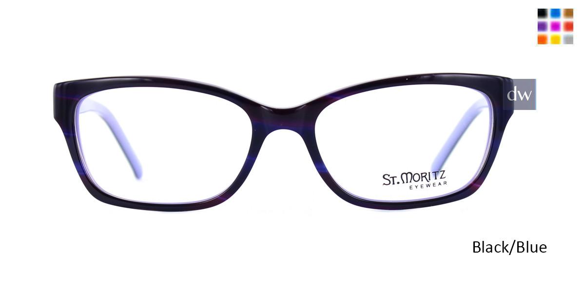 Black/Blue ST. Moritz DONELLA Eyeglasses