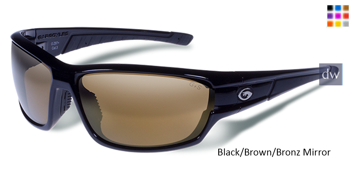 9a49bb5b7e Gargoyles HAVOC - Black Brown Bronze Polarized - Matte Black Smoke ...