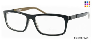 Free-Form FFA986 Black/Brown Eyeglasses