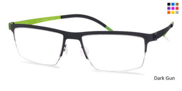 Free-Form FFA932 Dark Gun Eyeglasses