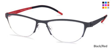Free-Form FFA935 Black/Red Eyeglasses