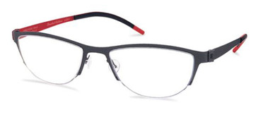Black/Red Free-Form FFA935 Eyeglasses.