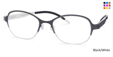 Free-Form FFA937 Black/White Eyeglasses
