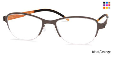 Free-Form FFA938 Black/Orange Eyeglasses