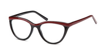 Black/Red Capri 4U US 79 Eyeglasses.