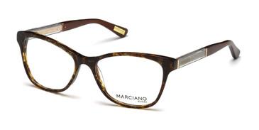 Dark Brown/Other Marciano GM0313 Eyeglasses.