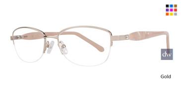 Gold Serafina Flora Eyeglasses