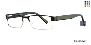 Black/Silver Serafina Zander Eyeglasses