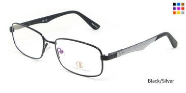 Black/Silver CIE SEC118 Eyeglasses.