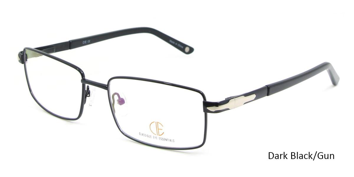 Dark Black/Gun CIE SEC117 Eyeglasses.