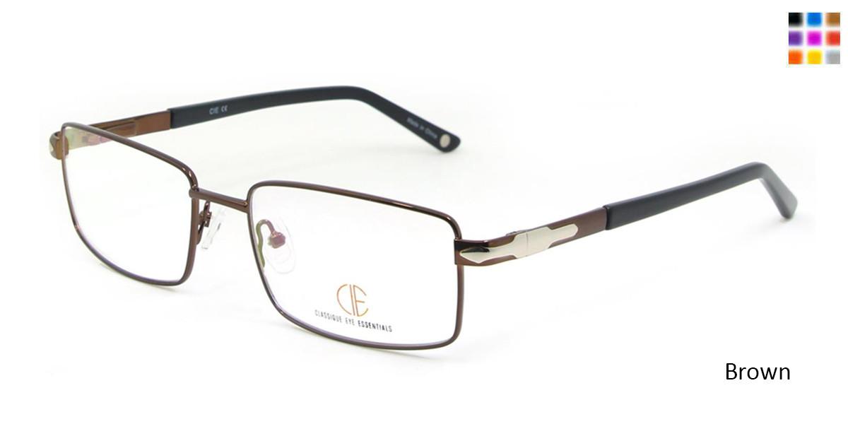 Brown CIE SEC117 Eyeglasses.