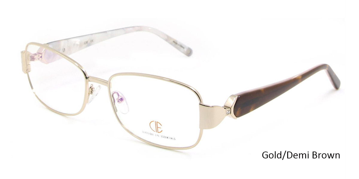 Gold/Demi Brown CIE SEC116 Eyeglasses.