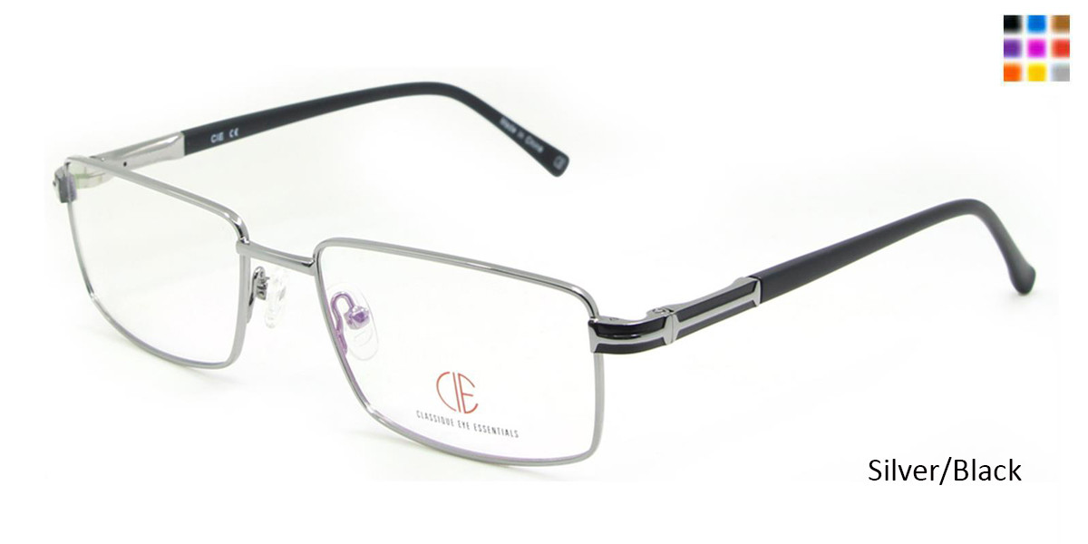 Silver/Black CIE SEC113 Eyeglasses.