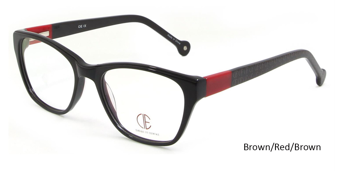 Brown/Red/Brown CIE SEC103 Eyeglasses.