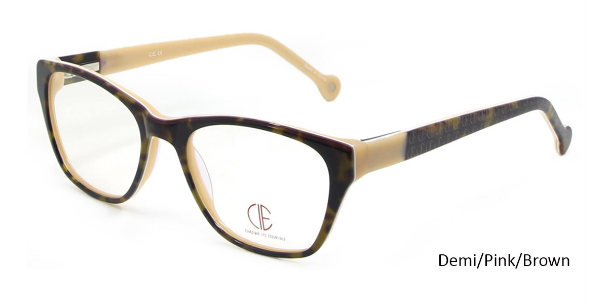 Demi Pink/Brown CIE SEC103 Eyeglasses.