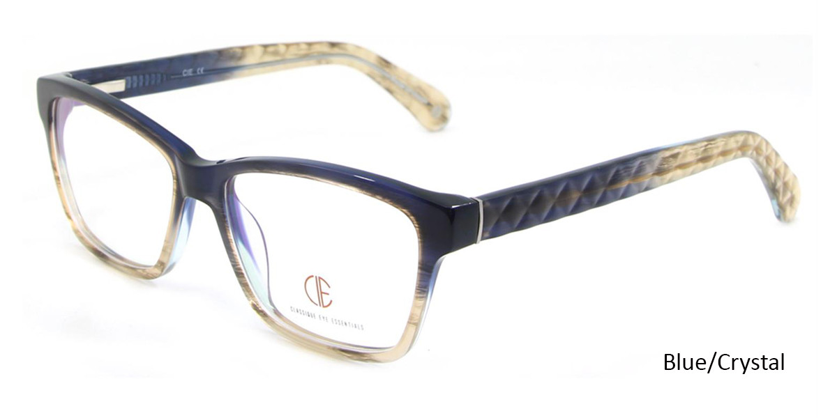 Blue/Crystal CIE SEC102 Eyeglasses.