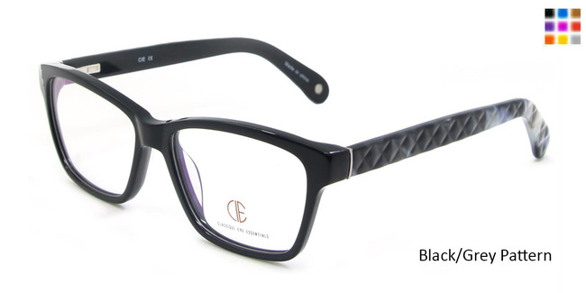Black/Grey Pattern CIE SEC102 Eyeglasses.