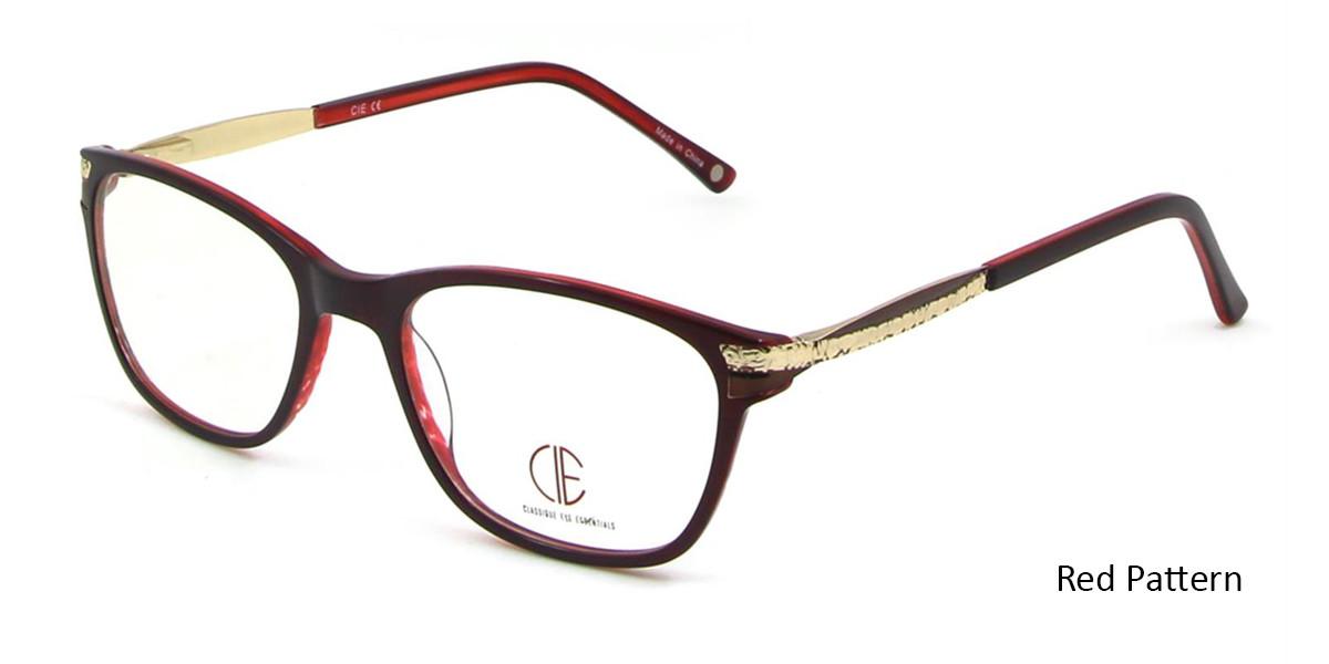 Red Pattern CIE SEC100 Eyeglasses.