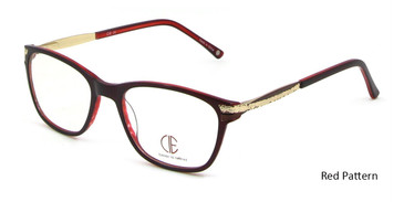 Red Pattern CIE SEC100 Eyeglasses.