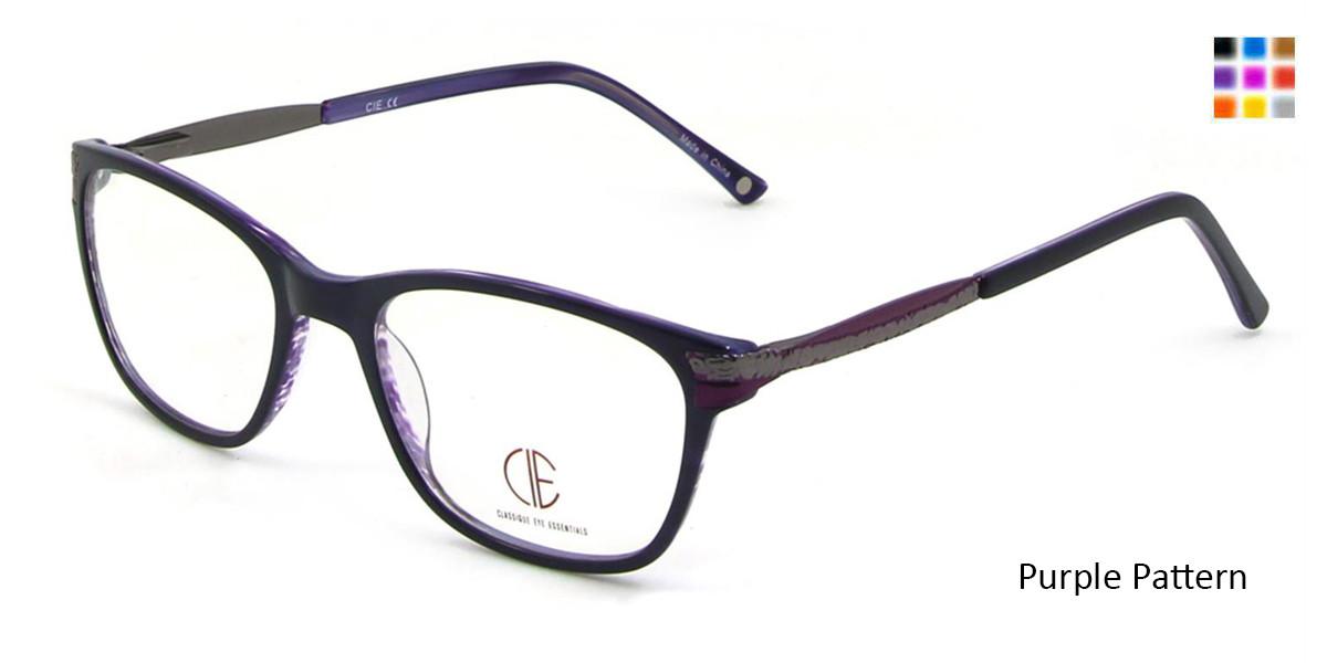 Purple Pattern CIE SEC100 Eyeglasses.