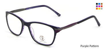 Purple Pattern CIE SEC100 Eyeglasses.