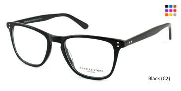 Black (C2) William Morris Charles Stone NY CSNY590 Eyeglasses