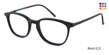 Black (C2) William Morris Charles Stone NY CSNY501 Eyeglasses - Teenager