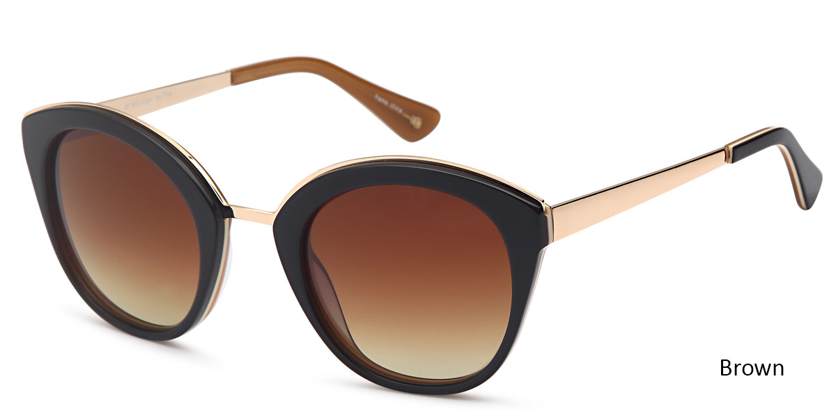 Brown Daniel Walters JF 601 Sunglasses.