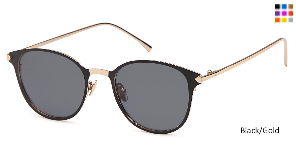 Black/Gold Daniel Walters JF 613 Sunglasses.