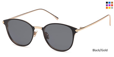 Black/Gold Capri JF 613 Sunglasses.