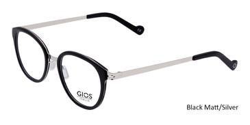 Black Matt/Silver Gios Italia SN200025 Eyeglasses.